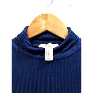 NWOT - FOREVER 21 Royal Blue Mock Neckline - M